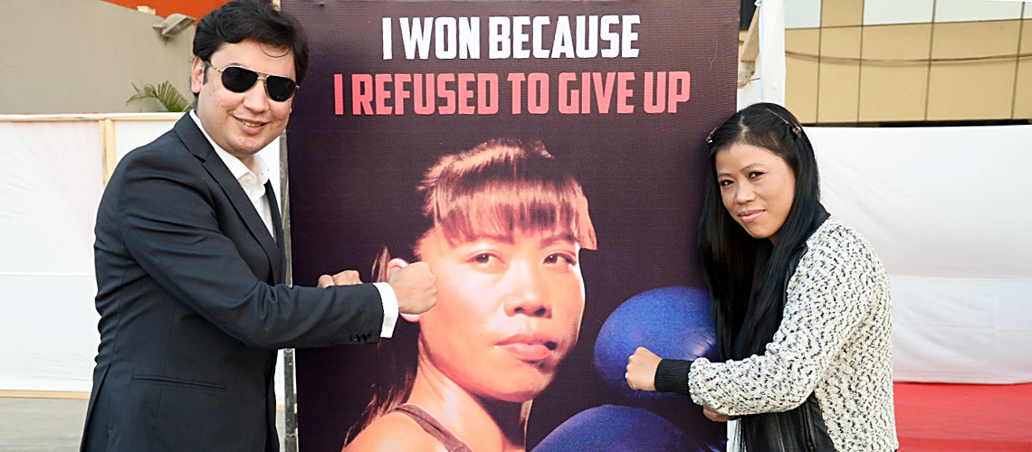Mary Kom at the launch of her book 'Unbreakable.'