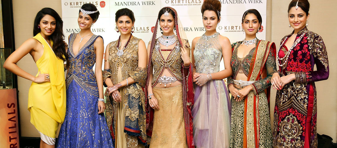 Wedding collection at Mandira wirk's bridal couture