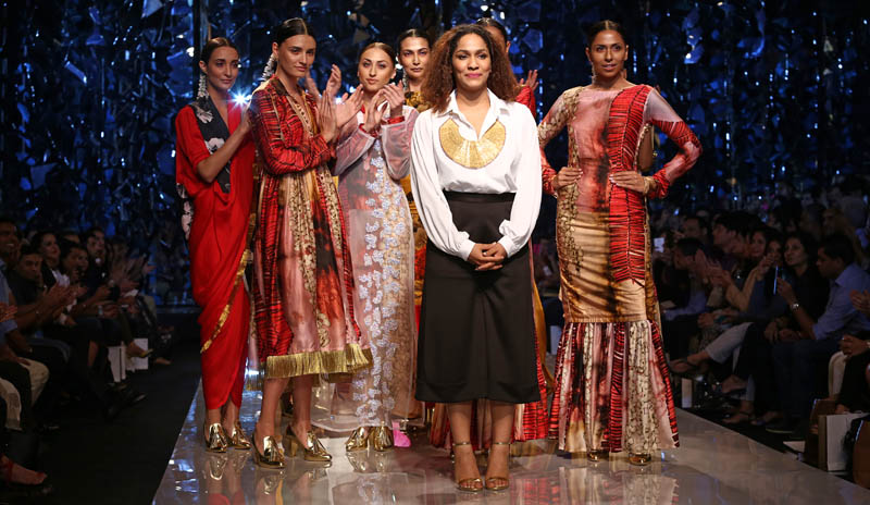 Fashion designer Masaba Gupta presents her first collection