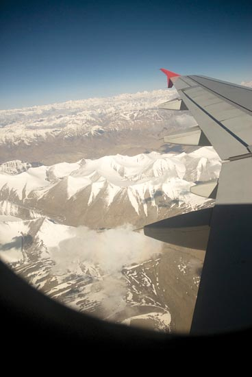 (Day 1) Snow-capped mountains - shot from the plane