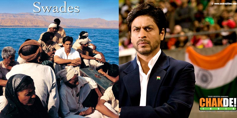 bollywood Shah Rukh Khan Swades and Chak De India
