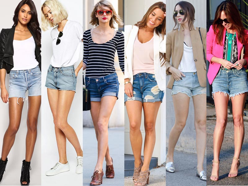 denims shorts