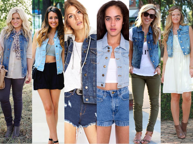 denims shorts vest