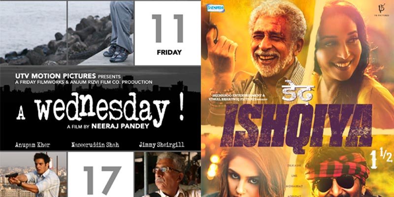 bollywood Naseerudin Shah A Wednesday and Dedh Ishqiya