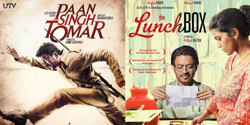 bollywood Irrfan Khan The LunchBox and Paan Singh Tomar