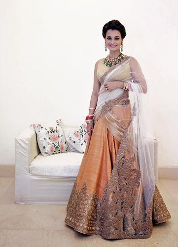 Dia Mirza's wedding dress